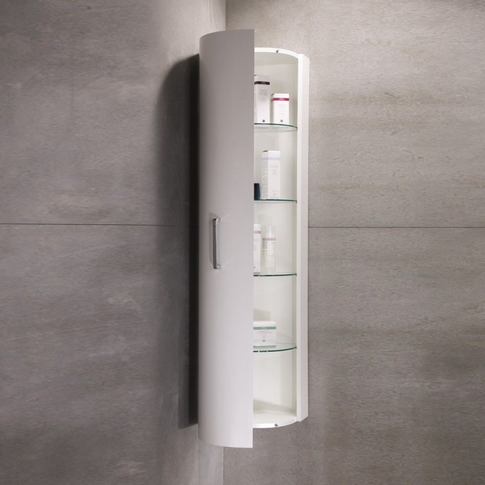 Luxe Designer Tall Corner Bathroom Cabinet Luc350w Bathroom