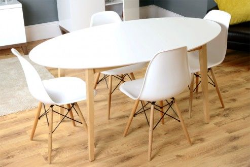 Tretton Retro White High Gloss Oval Dining Table Oval Table Dining Dining Table Marble Top Dining Table