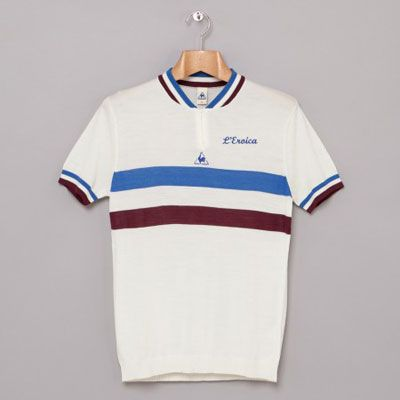 6765556aa993 Le Coq Sportif L Eroica vintage-style cycling shirts.