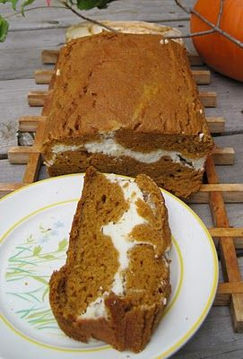 Pumpkin and Cream Bread...Only 500 Calories for the WHOLE loaf! Yum!