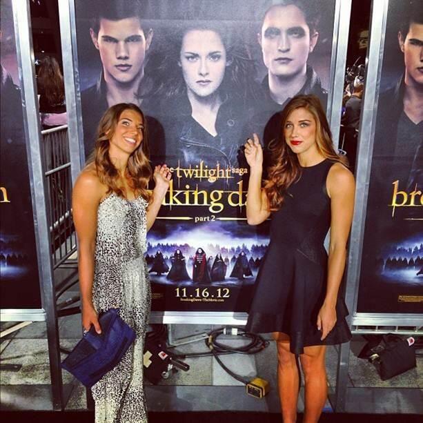 Tobin Heath and Alex Morgan at 'Twilight,' 2012. (Twitter)