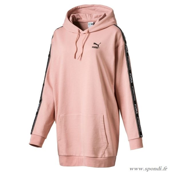 58687f0754 Puma Sweat à capuche long pour femme Misty Rose C56q5876 | Puma ...
