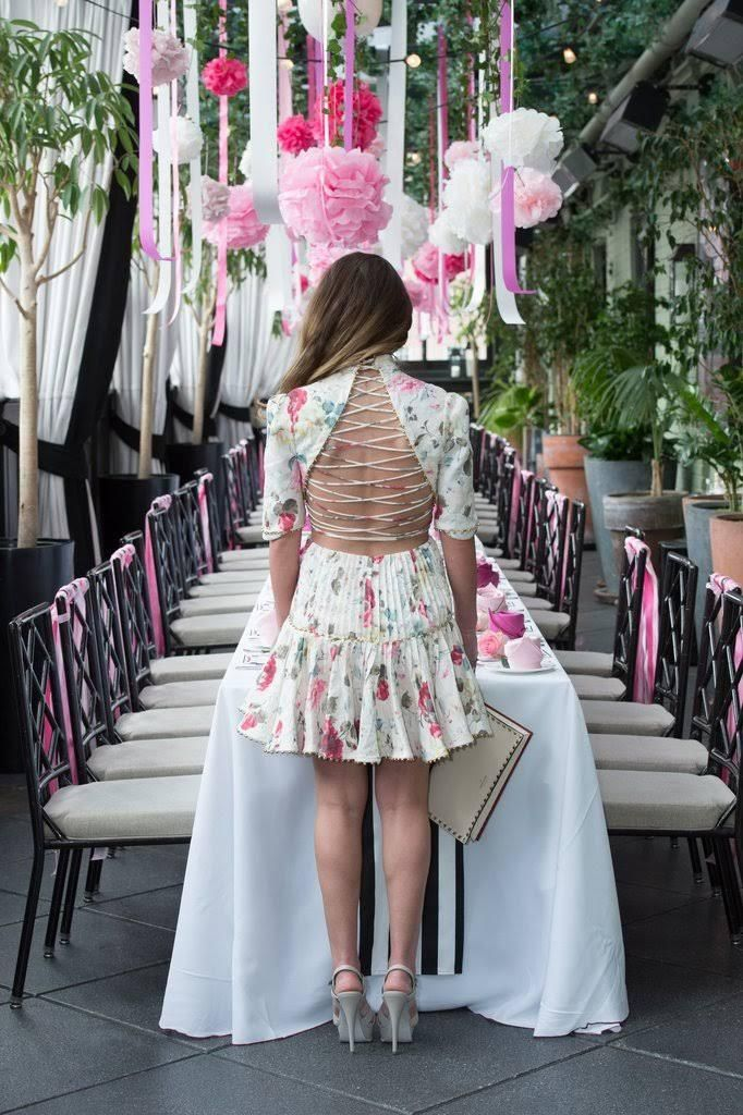 this fashion bloggers bridal shower is the definition of feminine and floral