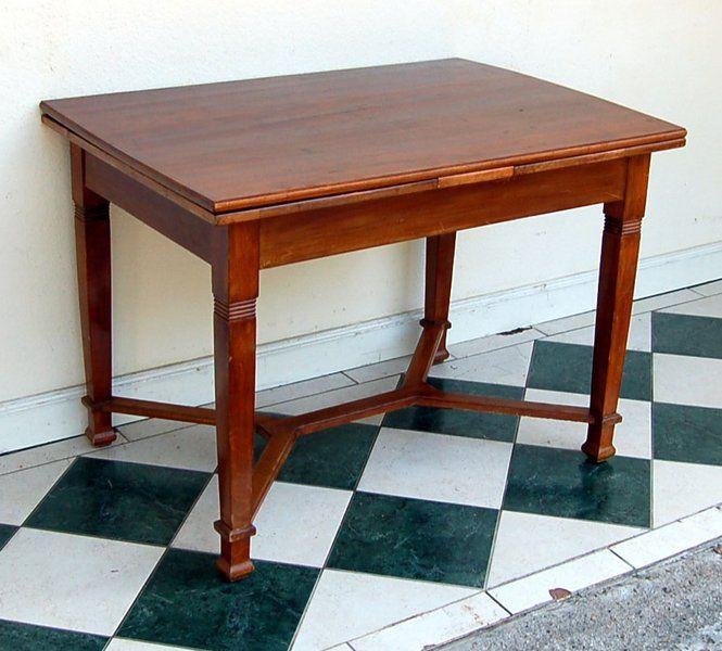 jugendstil ausziehtisch table art nouveau holz Haus und Garten - outdoor küche holz