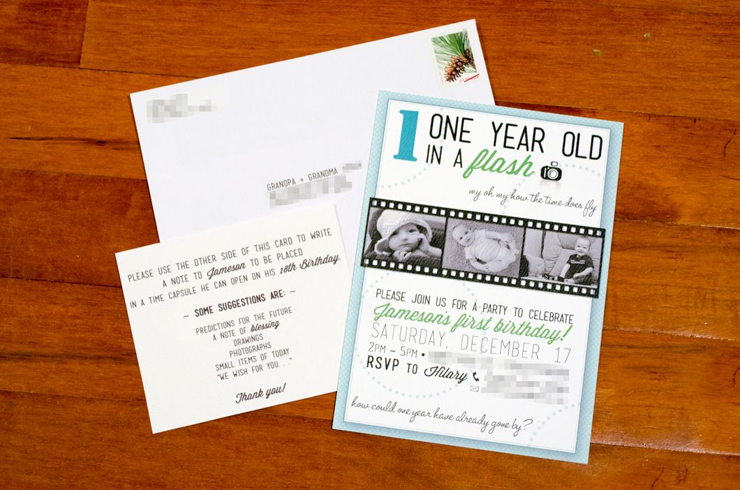 Time Capsule Birthday Invitation Wording