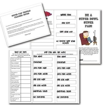 Nine great academic activities to bring the fun and excitement of the Super Bowl into your classroom! $7.50