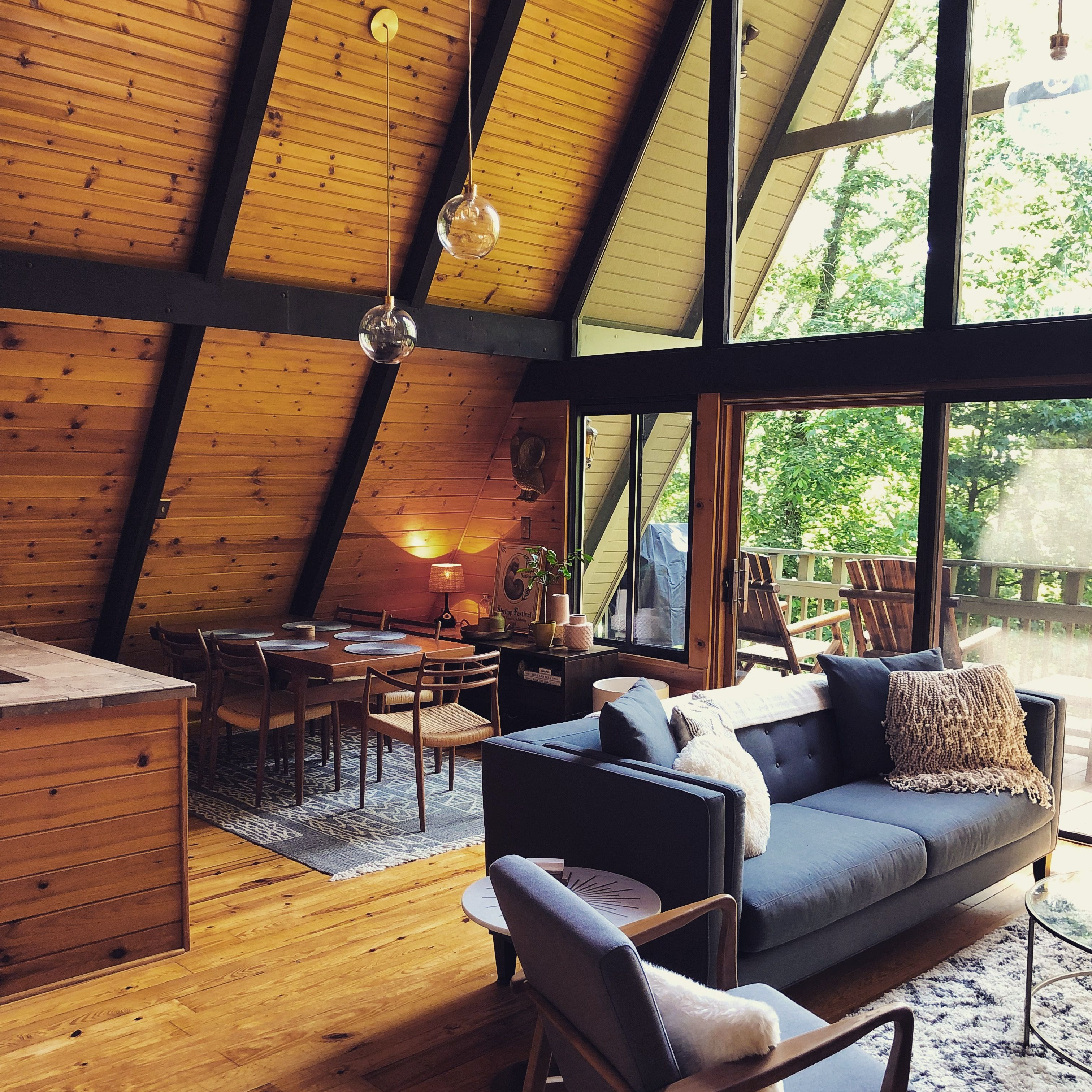 Visit Our Mid Century A Frame Cabin In North Georgia A Frame House A Frame Cabin Modern Cabin