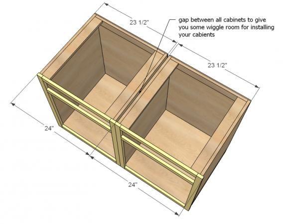 Kitchen Base Cabinets 101   Ana White   Kitchen base ...
