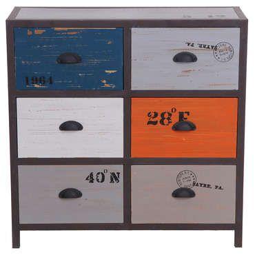 Commode 6 tiroirs METALO - pas cher ? C\'est sur Conforama.fr ...