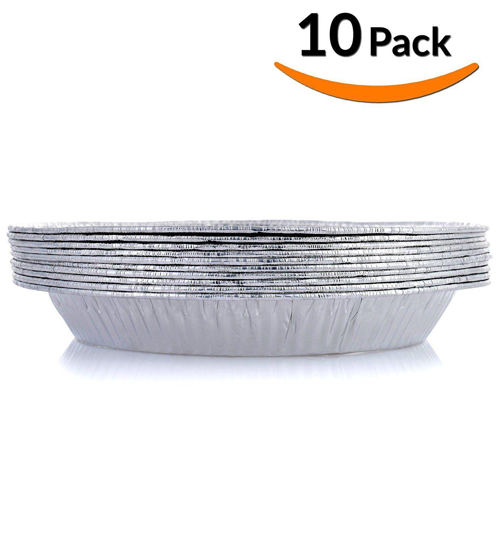 Amazon.com DOBI Pie Pan Disposable Aluminum Foil Plate Pack of 30 Standard Size (9-Inch-by-1.25-Inch) Kitchen \u0026 Dining  sc 1 st  Pinterest & DOBI Pie Pans - Disposable Aluminum Foil Pie Plates Standard Size ...