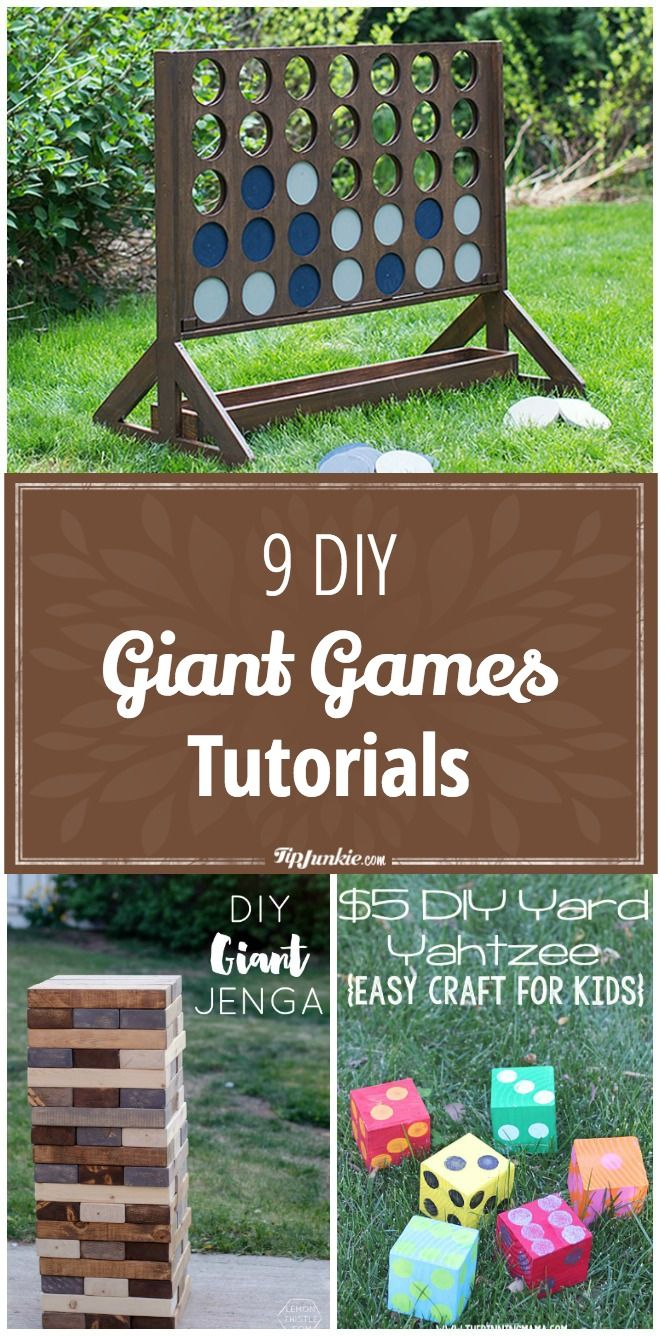 9 Diy Giant Games Tutorials Backyard Games Summer Diy Summer