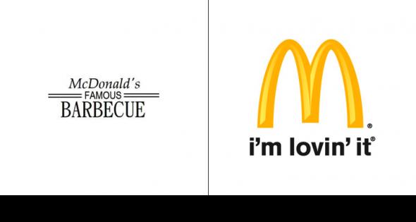 Compare The Original And Most Recent Logos Of 20 Top Companies Business Insider Logo Evolution Logos Logo Design Collection