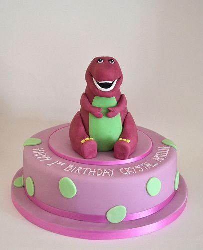 Barney dinosaur birthday cake Cakes Pinterest Barney cake