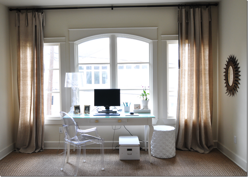 My new home office (in the master bedroom window nook