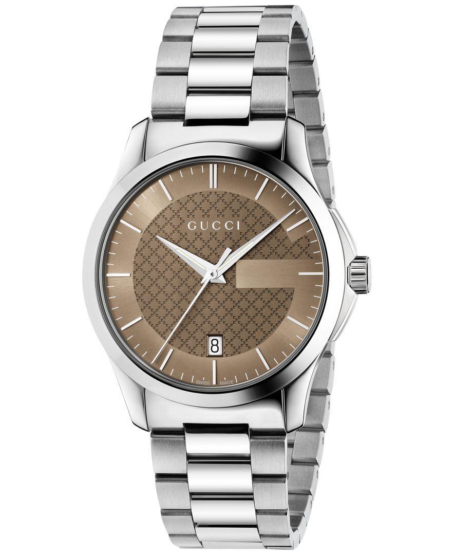 ce35d3578c9 Gucci Unisex Swiss G-Timeless Stainless Steel Bracelet Watch 38mm YA126445