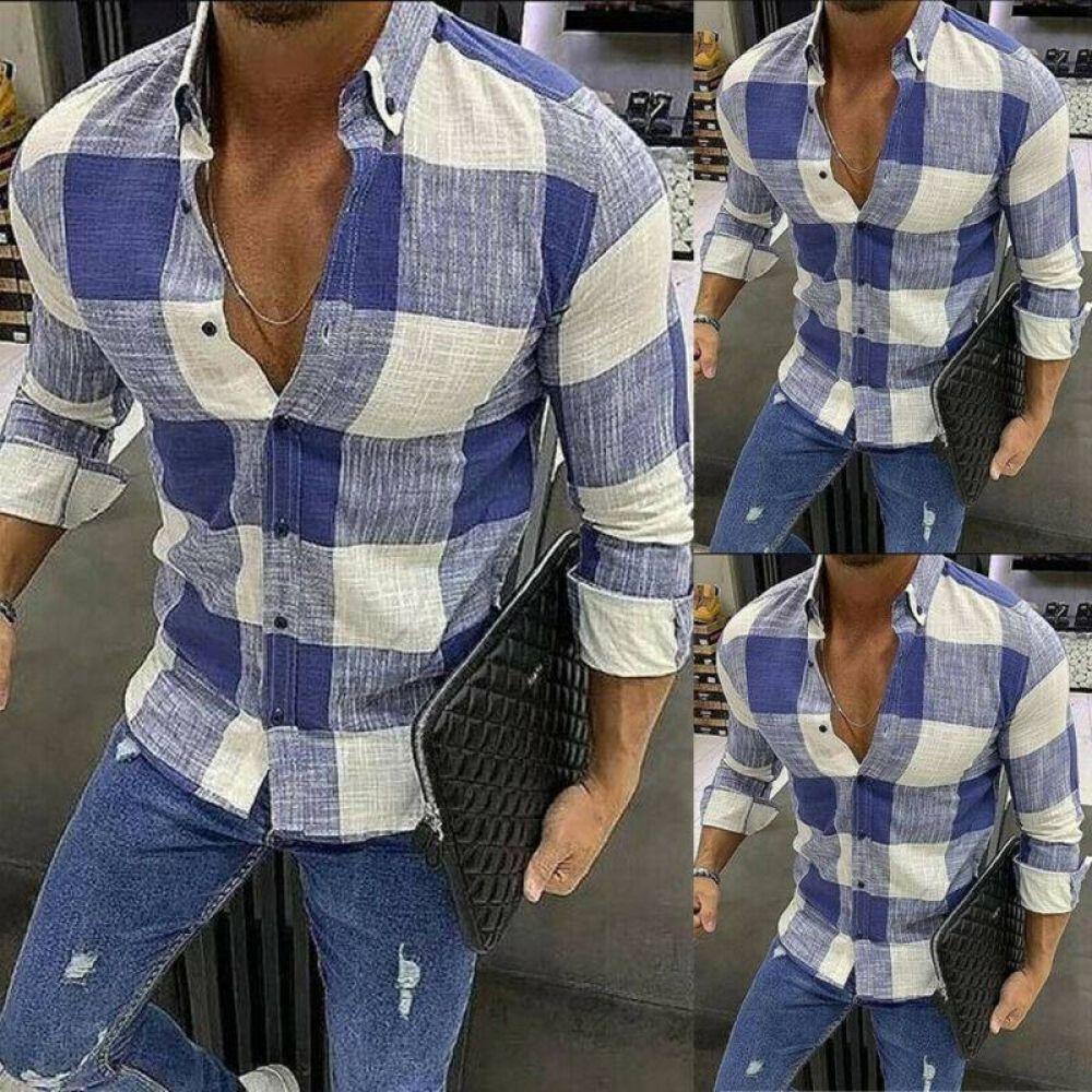 Fashion Men S Summer Casual Dress Shirt Mens Plaid Italian Sleeves Italian Mens Fashion Summer Shirts Men Shirt Dress Casual [ 1000 x 1000 Pixel ]