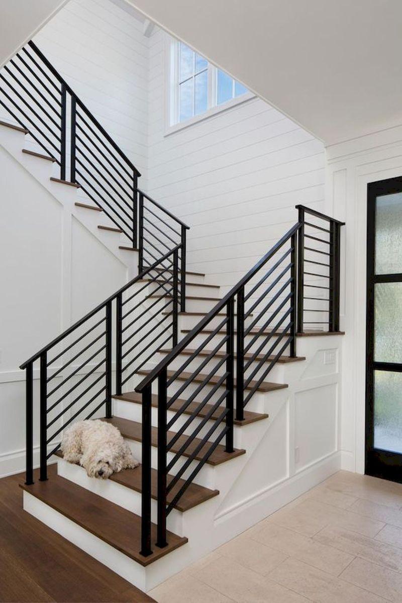 33 Ultimate Farmhouse Staircase Decor Ideas And Design 1 33decor Stair Railing Design Staircase Railing Design Staircase Decor