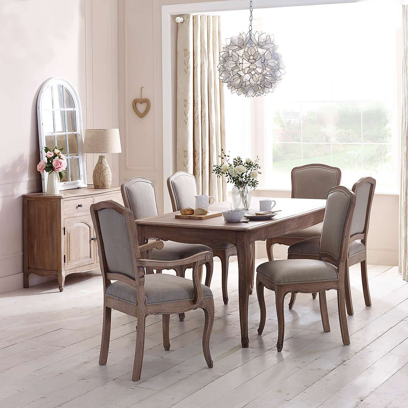 Amelie Pair Of Dining Chairs Natural Extendable Dining Table