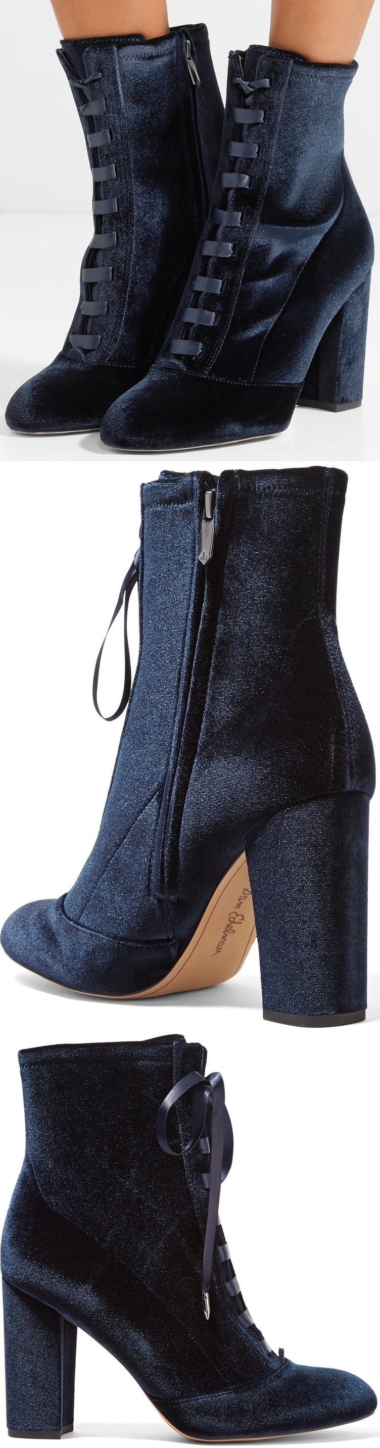 fb0625ec9 Nod to the velvet trend with Sam Edelman s  Clementine  boots. Made from  this plush fabric