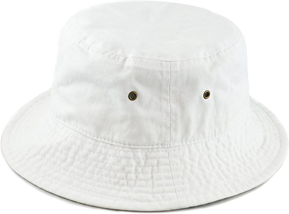 3fa0f7afffb THE HAT DEPOT 300N Unisex 100% Cotton Packable Summer Travel Bucket Hat (S
