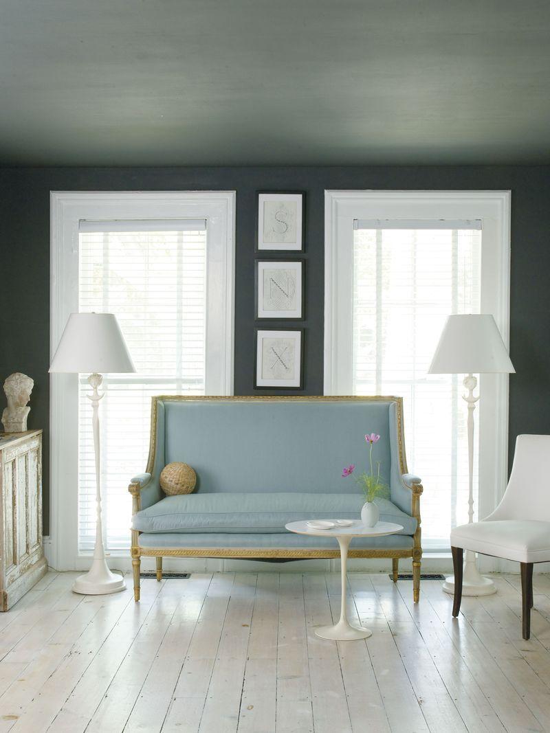 Cool chic interior pinterest dark grey walls settees and walls