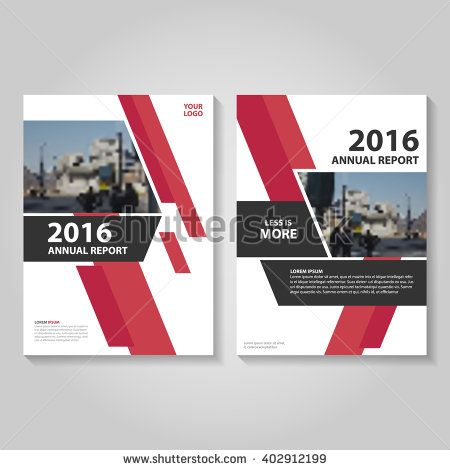 Creative Red Vector Annual Report Leaflet Brochure Flyer Template