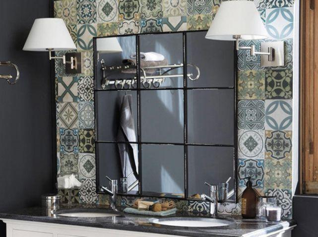 miroir ancien maisons du monde home decor pinterest modern industrial. Black Bedroom Furniture Sets. Home Design Ideas