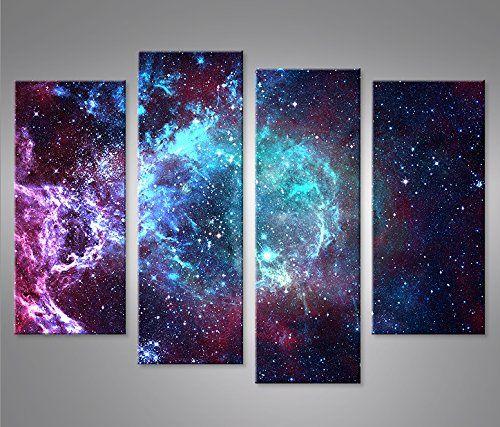 islandburner Bild Bilder auf Leinwand Sternennebel Sterne Weltall