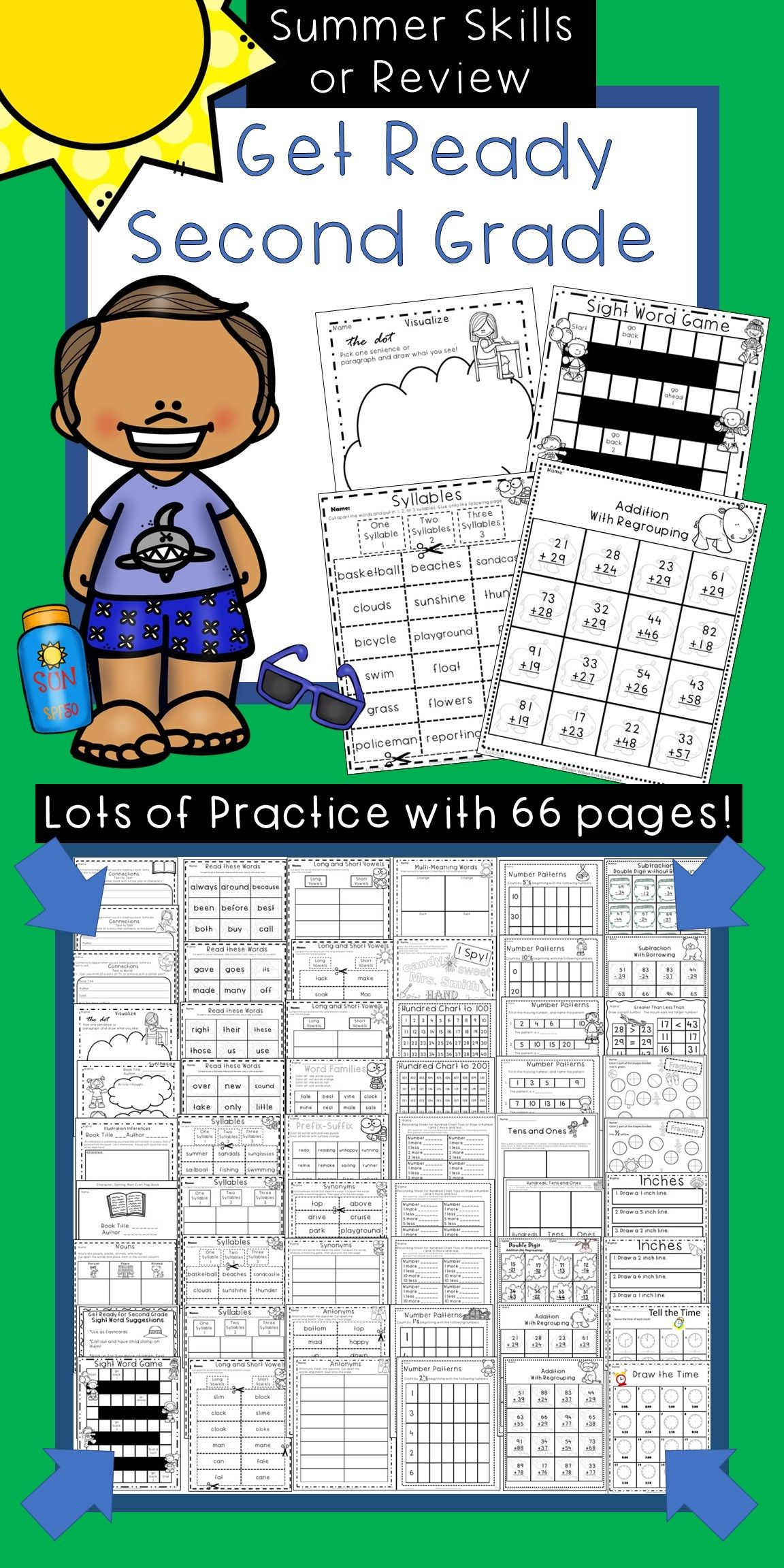 Get Ready For Second Grade Summer Skills Or Review