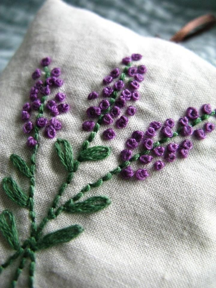 Pin By Lizbeth Toledo On Purple And White Hand Embroidered Flowers Ribbon Embroidery Silk Ribbon Embroidery
