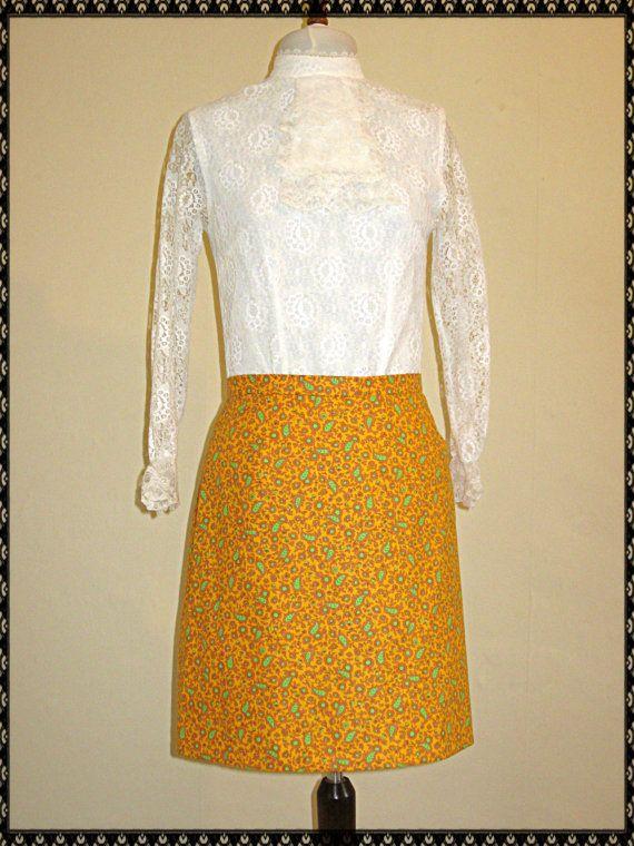 60's Mini Skirt  60s Mod skirt  Paisley Skirt in by CalleModista, £25.00