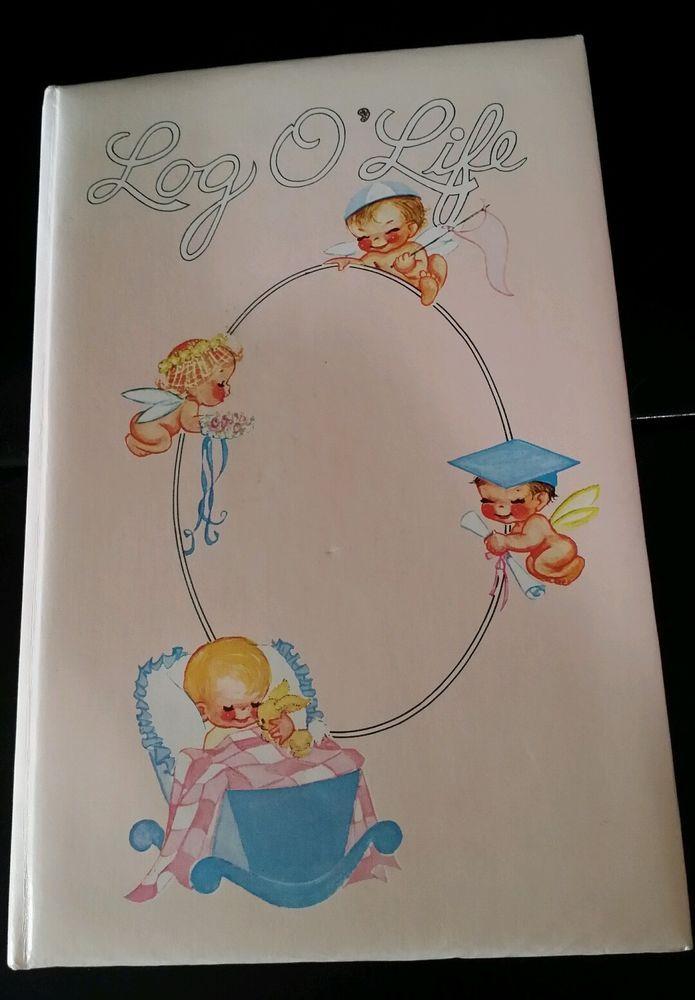 vintage log o life little king publshing pink baby book 1946 no box