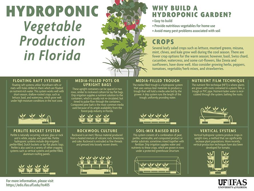 Gardening Solutions Infographics Gardening Solutions University Of Florida Institute Of Food And Agric Hydroponic Gardening Hydroponics Hydroponic Growing