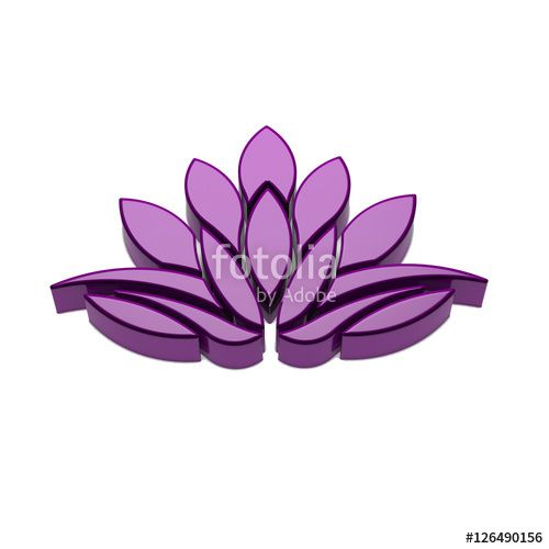 """Download the royalty-free photo """"Lotus Flower Logo. 3D Render Illustration"""" created by Fotolia365 at the lowest price on Fotolia.com. Browse our cheap image bank online to find the perfect stock photo for your marketing projects!"""