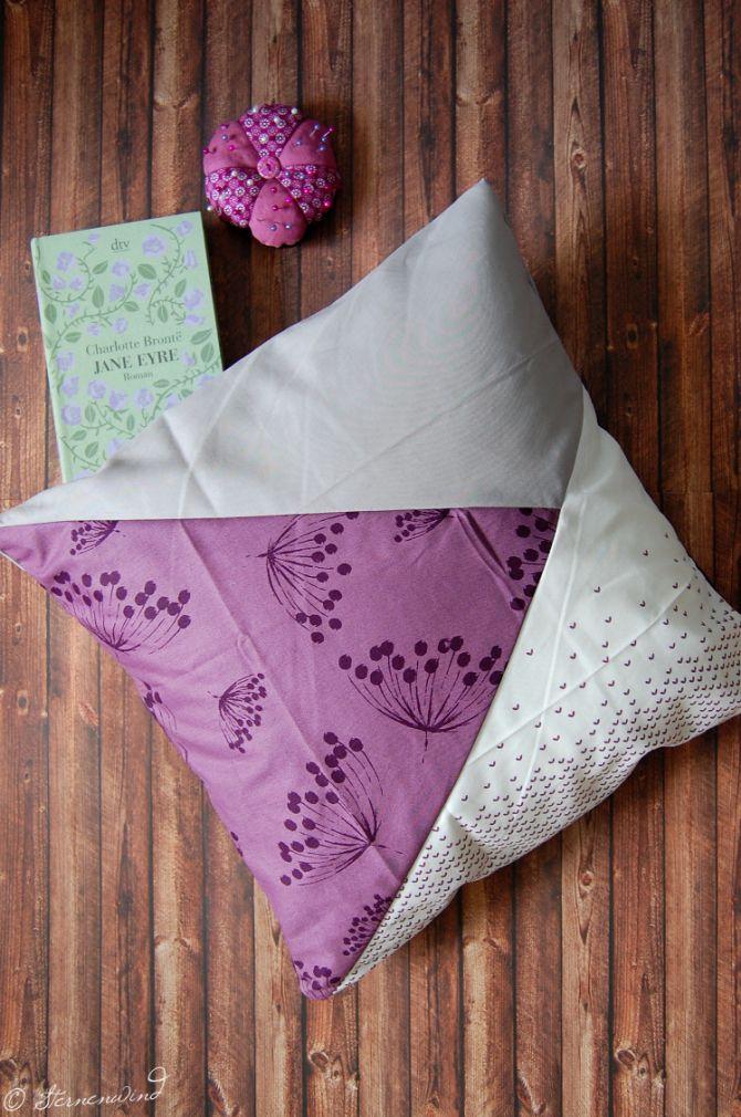 sternenwind anleitung kissen ohne rei verschluss oder. Black Bedroom Furniture Sets. Home Design Ideas