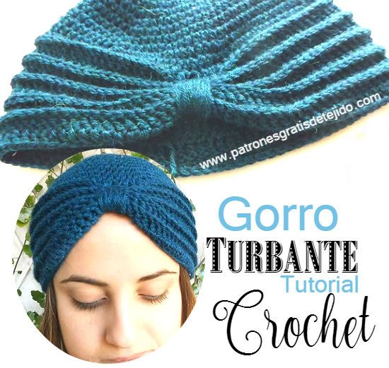 Turbante crochet paso a paso en video tutorial | Crochet | Pinterest ...