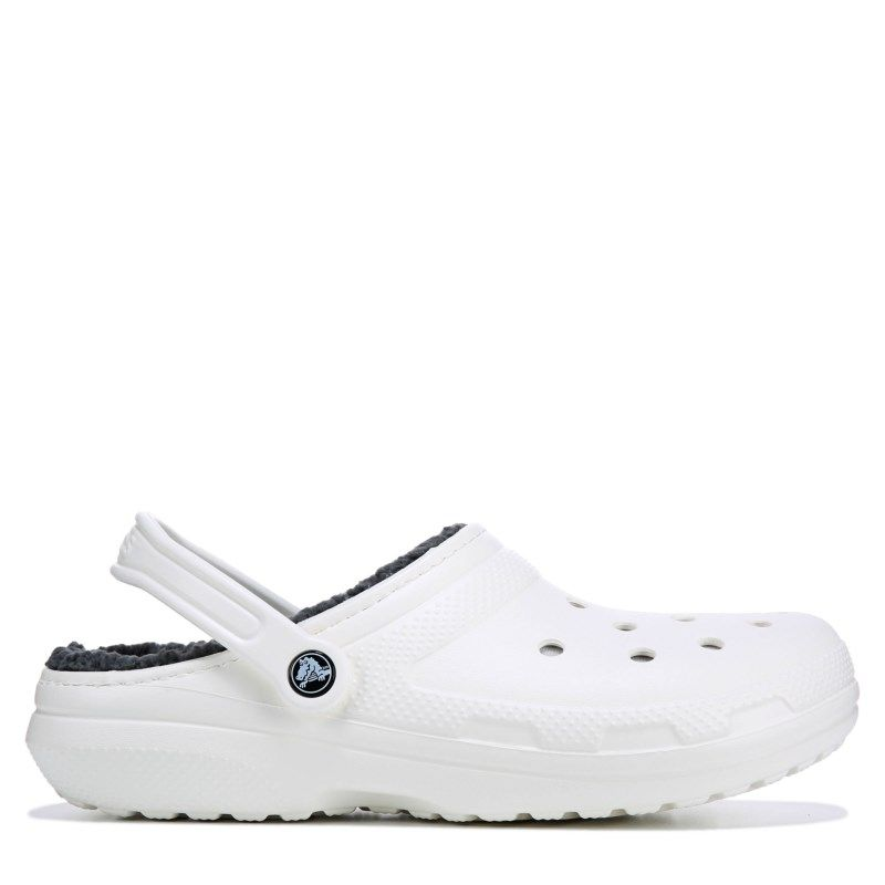 b6a6977d6 Crocs Men s Classic Fuzz Lined Clog Shoes (White Grey) in 2019 ...
