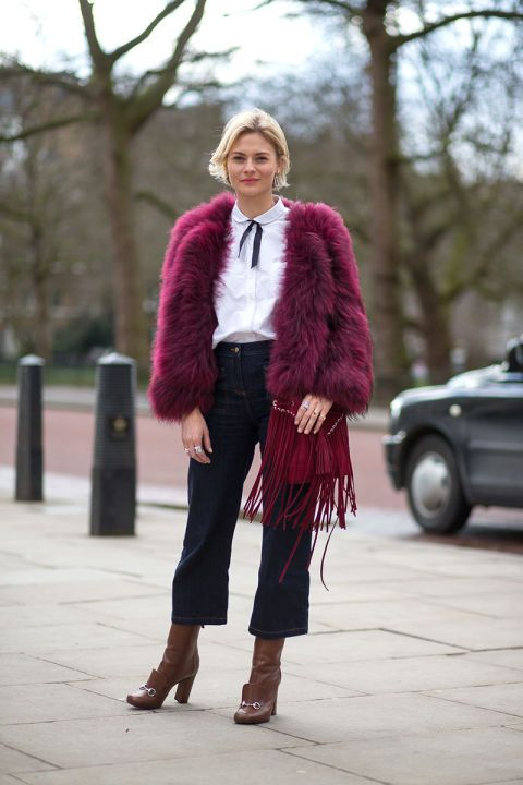 Pandora Sykes  #culottes #fringes #fur
