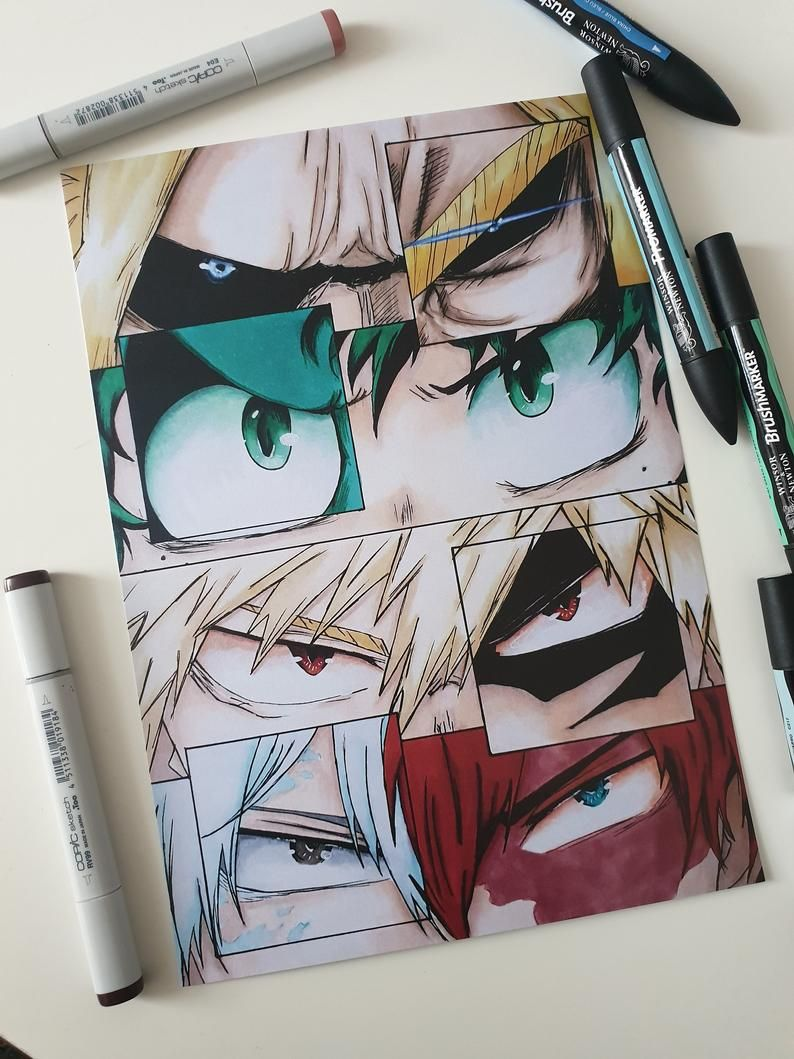 Photo of BNHA Eye collages | Etsy