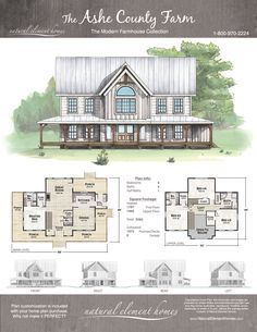 Ashe county farm natural element homes farmhouse house plans in home also rh pinterest