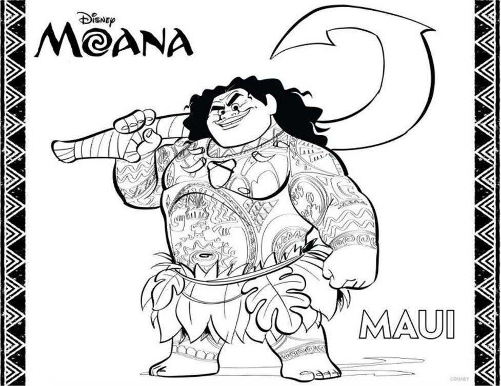 Moana - Paginas Para Imprimir y Colorear | Maui, Colorear y Libros ...