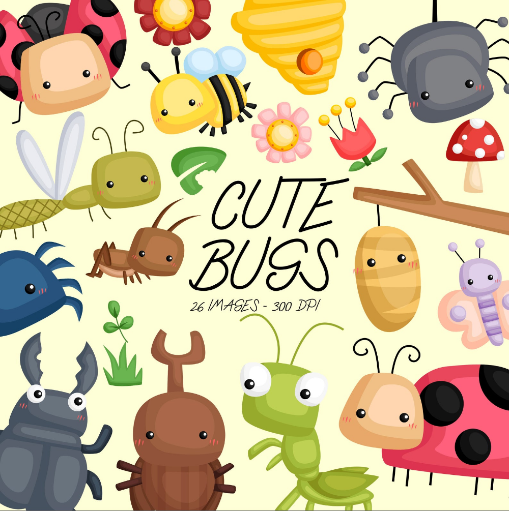 Cute Bugs Clipart Bugs Types Clip Art Bug And Insect Free Svg On Request Cute Bug Bugs Clipart Clip Art