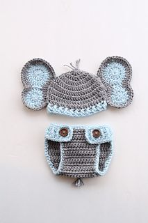 Ravelry  Elephant Hat and Diaper Cover for Boy or Girl pattern by Briana K  Designs 76e660b63d0