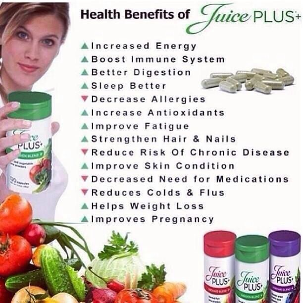 Benefits of juice plus reasons why we take it http