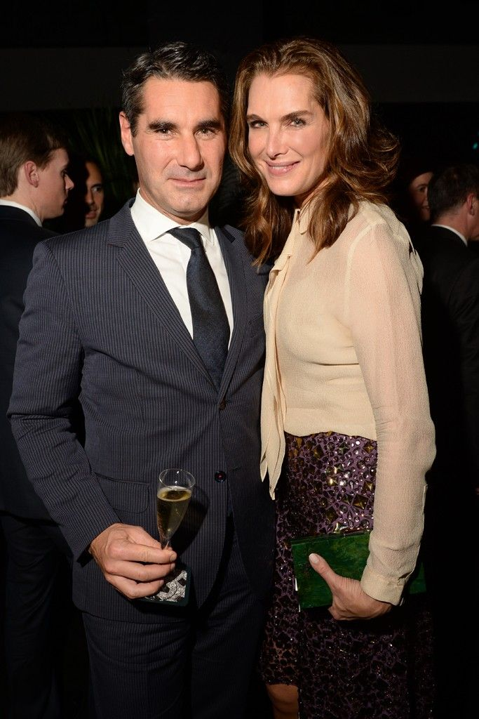 Hugues de Pins and Brooke Shields at the 100 years of La Panthère de Cartier party. Photo by Steve Eichner