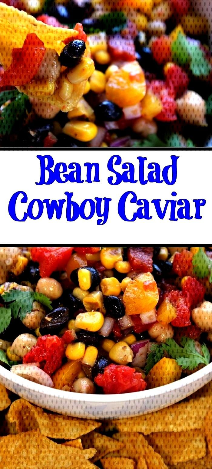 Bean Salad Cowboy Caviar This Cowboy Caviar aka bean salad is the perfect light dish to make! Perfe