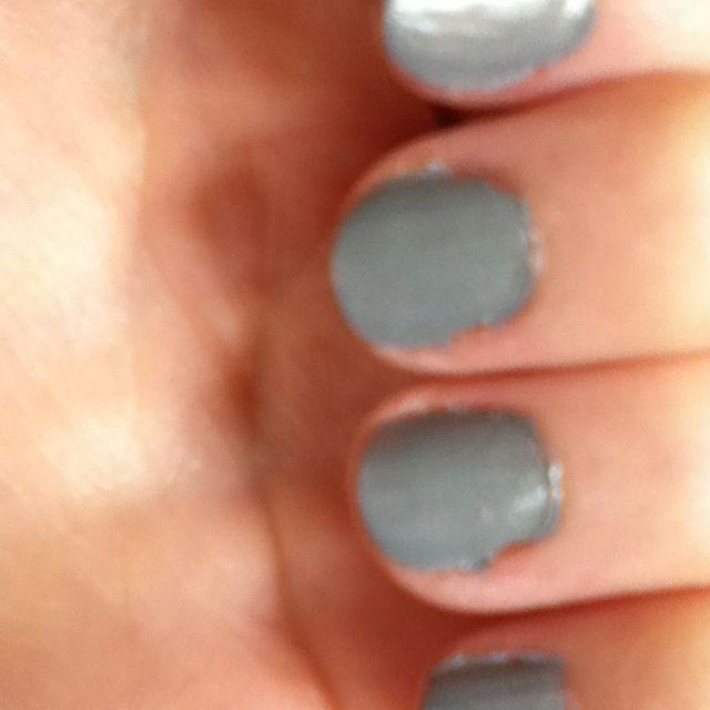 Homemade matte nail polish. I used white polish and put purple in ...