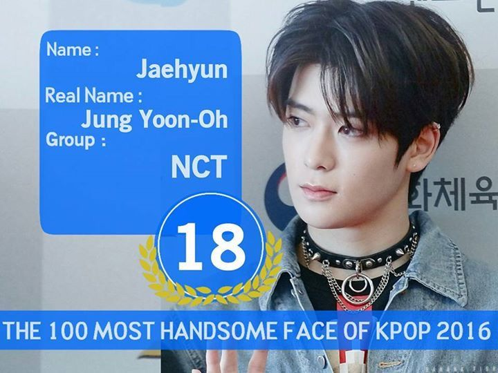 Nct Jaehyun 100 Most Handsome Faces Of Kpop 2016 My Baby Ranked Number 18th So Proud Of Him Nct Jaehyun Handsome Faces