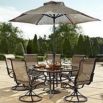 Garden Oasis Harrison 7 Piece Dining Set Sears Resort Outdoor