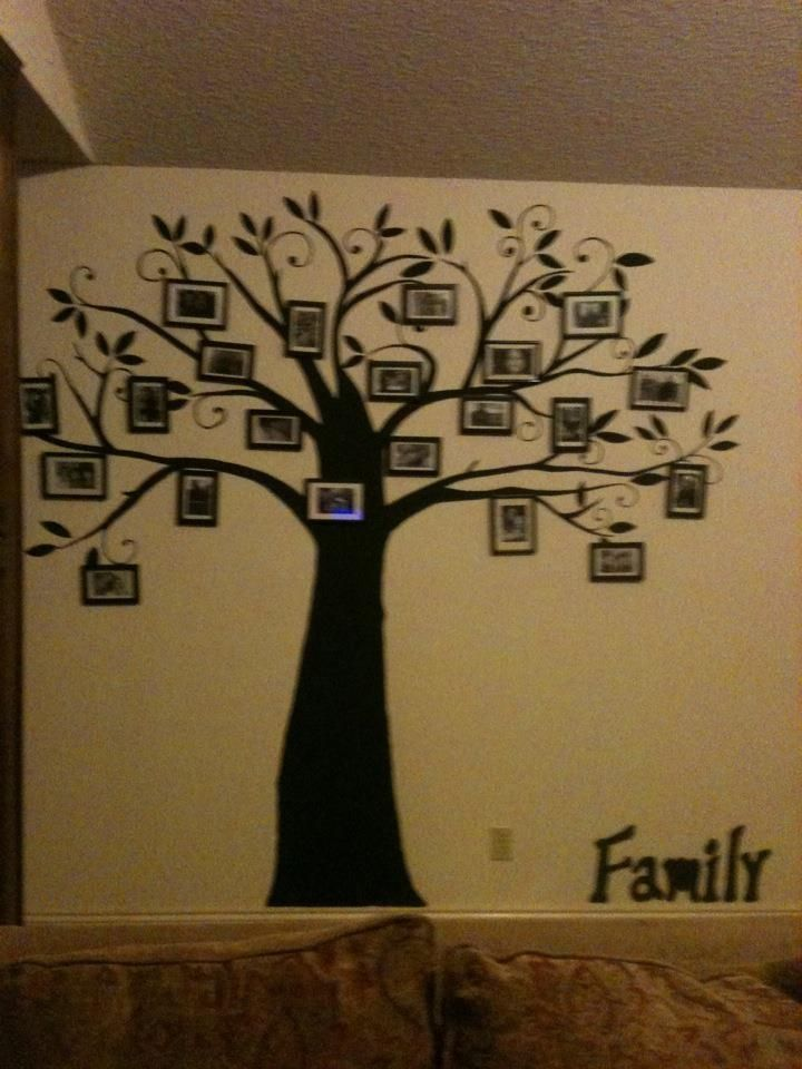My Family Tree That I Painted On My Living Room Wall Had Various